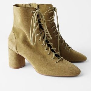 🆕 Suede Lace Up Bootie